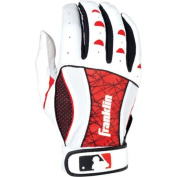 Franklin Sports MLB Adult Insanity II Batting Glove, White and Red