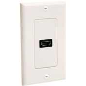 StarTech.com Single Outlet Female HDMI Wall Plate - 1-gang - HDMI Digital Audio/Video - White