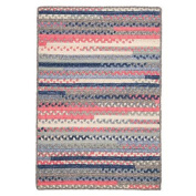 Colonial Mills Print Party Rects Blue Area Rug