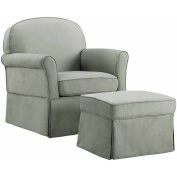 Baby Relax Evan Swivel Glider and Ottoman Grey