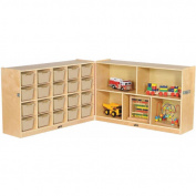 Fold & Lock 15-Tray Cabinet and 80cm Storage with Bins