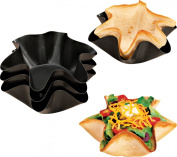 Miles Kimball Nonstick Taco Fluted Dishes - Set Of 4