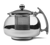 Chef's Star Premium Glass Tea Pot & Infuser - Stainless Steel & Heat Resistant Glass