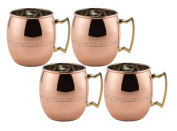 Old Dutch Congratulations Moscow Mule Mug, 470ml, Solid Copper, Set of 4
