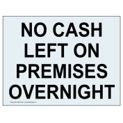 ComplianceSigns Clear Vinyl Security Notice Label, 36cm x 25cm . with Front Adhesive, English