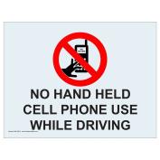 ComplianceSigns Clear Vinyl Phone Rules Window Cling, 13cm x 8.9cm . 4-Pack