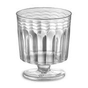 1 Piece 60ml Pedestal Plastic Wine Glasses - Case of 240