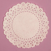 13cm Round White Normandy Lace Paper Doilies 100 Count