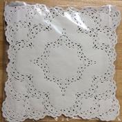 30cm x 30cm White Square Lancaster Paper Doilies 50 Count
