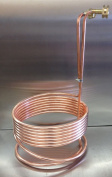 7.6m Copper Immersion Chiller with Leak Proof Fittings and Raised Coil