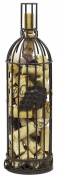 Southern Homewares Grapevine Wine Bottle Shaped Cork Cage, Bronze