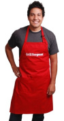 """Flirty Aprons Men's Apron """"Grill Sergeant"""", Red"""