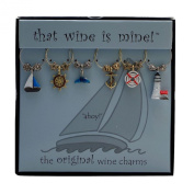Wine Things WT-1406P Ahoy Wine Charms, Painted