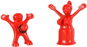 Fairly Odd Novelties Sir Perky and Mrs. Perky Novelty Bottle Stopper Set, Red