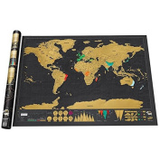 OSOYOO Deluxe Travel Scratch Off World map Personalised Poster Vacation Log Gift Toy
