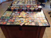 150 Assorted Pokemon Card Lot with Foils. Collector's Tin Included!