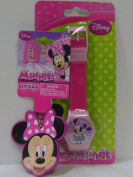 Cute Minnie Mouse LCD Watch and Keychain Set