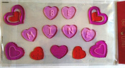 Valentine Reusable Window Gel Cling ~ Pink & Red Hearts Be Mine