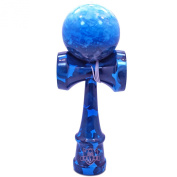 Full Blue Ocean Marble Kendama And Extra String