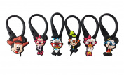 6 pcs Mickey Mouse Friends # 7 Soft Zipper Pull Charms for Backpack Bag Pendant Jacket