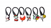 6 pcs Snoopy #1 Soft Zipper Pull Charms for Backpack Bag Pendant Jacket