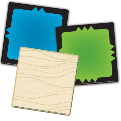 Eureka Scrabble Assorted Paper Cut-Outs, 12 Each of 3 Different Designs, 36-Piece