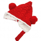 BuyHere Cute Unisex-Baby Knitting Cap Keeping Warm in Winter,Red