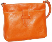 Italian Soft Leather Hand Made Small Strap Fronted Triple Compartment Adjustable Strap Cross Body or Shoulder Bag Handbag. Includes a Branded Protective Storage Bag.