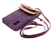Bronze Times2-Layers Cat Pattern Flannel Cellphone Bag with shoulder Strap
