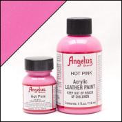 Angelus Brand Acrylic Leather Paint - Hot Pink - 30ml