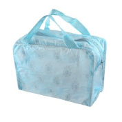 FOREVER YUNG Blue Sunflower Decor Water Resistant Bathing Shower Tote Handbag