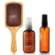 Gifts Of Morocco Luxury Argan Oil Set - Argan Oil 100ml   Argan Body Oil 100ml   Argan Infused Paddle Brush