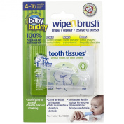 Baby Buddy Clear Wipe and Brush with Tooth Tissues