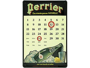 PERPETUAL CALENDAR FRENCH VINTAGE METAL SIGN 30x20cm RETRO AD PERRIER