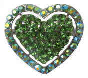 Pick A Gem Austrian Crystal and AB Crystal Valentines Love Heart Brooch / Brooch Bouquet