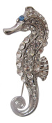Pick A Gem Silver Crystal Embellished Seahorse Brooch / Mothers Day Gift
