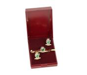 irish rangers cufflink and tieslide gift set