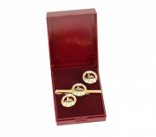 south wales borderes cufflink and tieslide gift set.