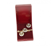 the york and lancaster regiment cufflink and tie bar gift set.