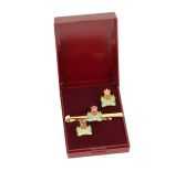 the inteligence corps cufflink and tie bar gift set