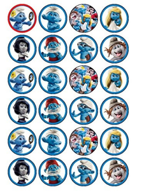 24 x Smurfs 2 (#2) Cupcake Cake Toppers