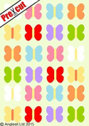 PRE-CUT HAWAIIAN BUTTERFLY MIX FLAT EDIBLE RICE / WAFER PAPER CUP CAKE TOPPERS PARTY DECORATION