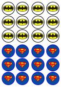 Batman vs Superman Edible Wafer Rice Paper 24 x 4.5cm Cupcake Toppers/Decorations