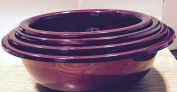 India Bazaar 4pc RED Stainless Steel Mixing Bowl Set (NEW FOR 2015) FREE UK POSTAGE