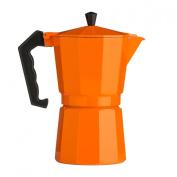 Traditional Italian Style Design 9 Cup Espresso Coffee Maker - Orange Aluminium