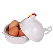 Tinksky Plastic Microwave Egg Boiler Poacher Cooker for 4 Eggs