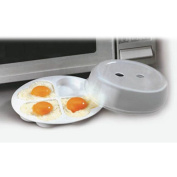 Kitchen Microwave Egg Poacher With Lid - Cook Up To 4 Heart Shaped Eggs