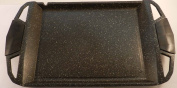 Pradel Excellence 52402M Plancha Griddle 48 x 28 x 4.7 cm with Stone-look Suitable for Induction Stoves / Hobs