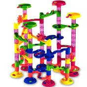 111 pieces Marble run - including 36 glass marbles - marbutopia educational games toys