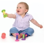 Amazing Wiggly Giggler Rattle (Colours May Vary) - Eye Catching And Perfect Size For Smaller Hands Toy / Game / Play / Child / Kid